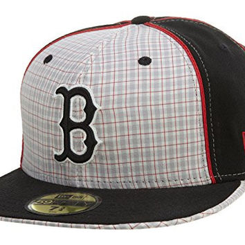 New Era Boston Red Sox Fitted Hat Mens style: Hat349-BLK/WHT Size: 7.75