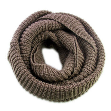 Arionna Wool Knitted Scarf Brown