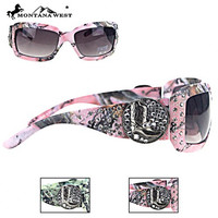 Montana West Cowboy Boot Camo Sunglasses