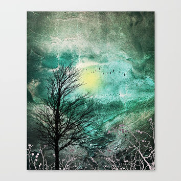TREES under MAGIC SKY I Canvas Print by Pia Schneider