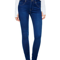 Liv High-Rise Jeggings in Medium Rinse - Medium Blue