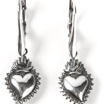 Ugo Cacciatori heart drop earrings