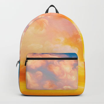 Sunset feather Backpack by exobiology
