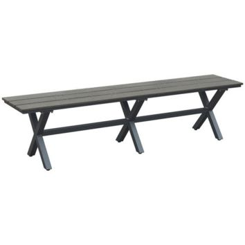 ZUO Modern Bodega Bench Ind. Gray & Brown 703816 Dining Benches