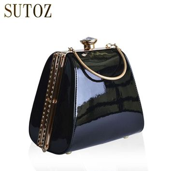 Luxury Handbags PU Women Bags Designer Diamond-studded Lady Day Clutch Evening Box Bag Purse Messenger Shoulder Bag Pouch BA401