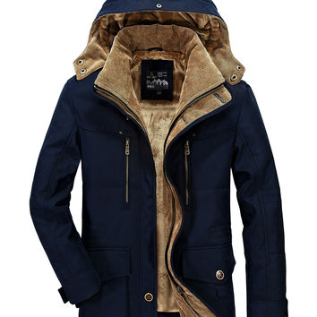 Thicken Padded Cotton Winter Plus Size Jacket [9072636291]