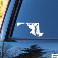 Maryland Home Decal   Maryland State Decal   Homestate Decals   Love Sticker   Love Decal    Car Decal   Car Stickers   Bumper   060