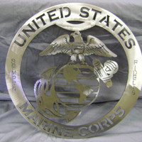 "Metal Sign, Steel Sign ""United States Marine Corp"" Metal Sign, Military Sign, Wall decor, Metal Art"