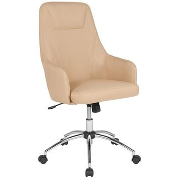 Rennes Home and Office Upholstered High Back Chair with Headrest Outline