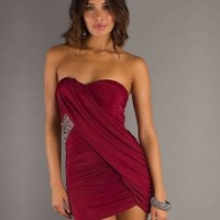 Sweetheart Sheath/Column Red Beading Chiffon Short/Mini Dress - Wedding Dresses Canada Online