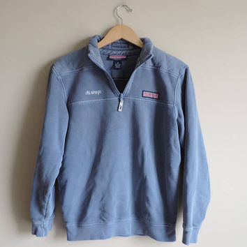 Pre-Owned Chi Omega Upcycled Vineyard Vines Shep Shirt Sweatshirt // Size XS // Ready To Ship