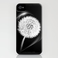 LIFE IN MONO - Dandelion iPhone Case by ♕ VIAINA | Society6