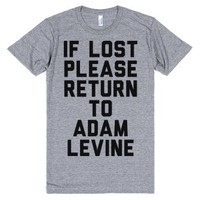 If Lost Please Return To Adam Levine-Unisex Athletic Grey T-Shirt