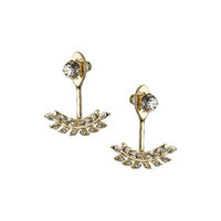 Leaf Drop Studs - Gold