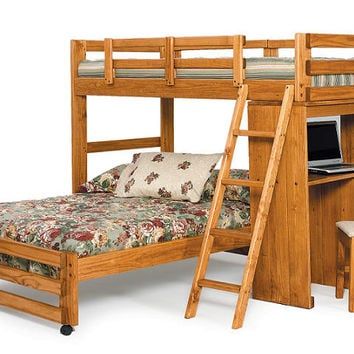 Boone Twin over Full Study Loft Bed