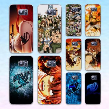 Anime Manga Fairy Tail logo transparent clear hard case cover for Samsung Galaxy s6 s7 edge s4 s5 mini note 4 note5