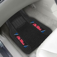 FANMATS University of Mississippi (Ole Miss) 2-Piece Deluxe Car Mats