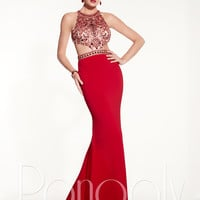 Panoply 14831 Cut Out Waist Formal Prom Dress