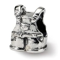 Sterling Silver Kids Overalls Bead