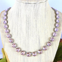 Swarovski crystal Vintage Rose, Cushion cut, necklace bracelet and earrings - Select individual pieces or the SET