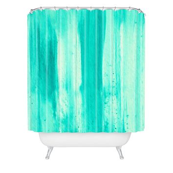 Madart Inc. Modern Dance Aqua Passion Shower Curtain