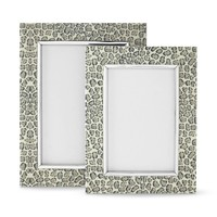 Leopard Printed Paper and Metal Frame