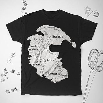 World Map Earth Graphic Retro Unisex Shirt Top Tee