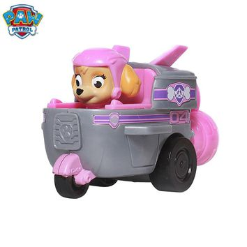 Paw Patrol Dog Anime Figurine Car Plastic Toy Action Figure model  patrulla canina Toys Children Gifts toys