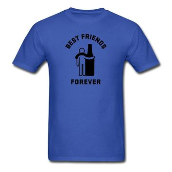 BFF Best Friends Forever Men's T-Shirt T shirt Tops Summer Cool Funny T-Shirt 2017 Brand Homme Tees 100% Cotton