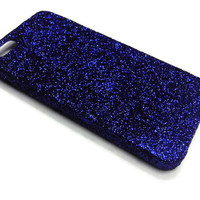Glitter Apple iphone case for iphone iphone 5 iphone 5s: Dark Blue