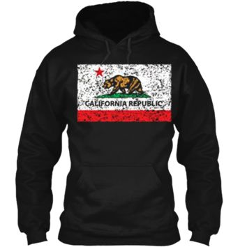 California Republic Cali Flag T-Shirt Socal Norcal Cencal T Pullover Hoodie 8 oz