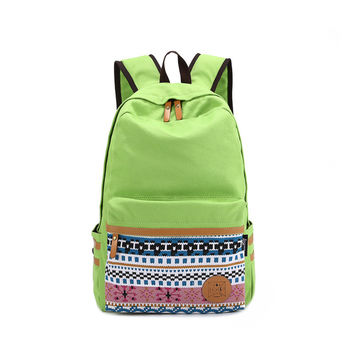 Back To School On Sale Hot Deal Casual College Comfort Design Stylish Patchwork Zippers Backpack [6304975620]