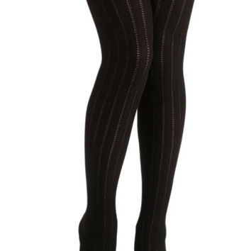 ModCloth Boho Candy Cottages Tights in Licorice