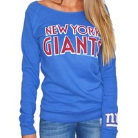 New York Giants Womens Off Shoulder Sweatshirt | SportyThreads.com