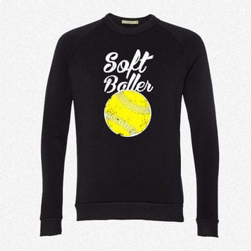 SoftBaller fleece crewneck sweatshirt