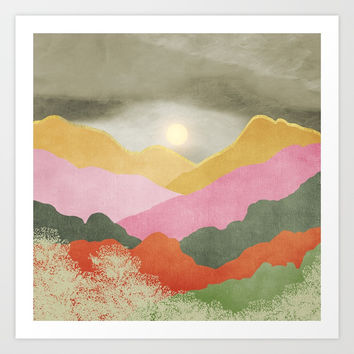 Colorful mountains Art Print by vivianagonzlez