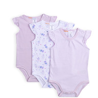 Pumpkin Patch - bodysuits - 3pk flutter sleeve bodysuits - W4BN15007 - orchid ice - nb to 6-12m