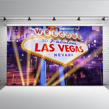 Mehofoto Las Vegas Backdrop for Photography Shiny Night City Background for Photo Studio Customize MW-103