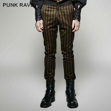 Steampunk Fashion Personality Punk rave Vintage Men Pants K271 S-4XL