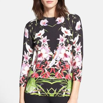 Women's Ted Baker London 'Adolie' Floral Print Sweater