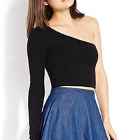 Standout One-Shoulder Crop Top