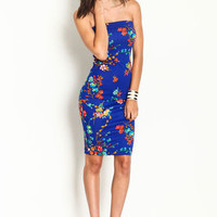 Floral Print Midi Dress - LoveCulture