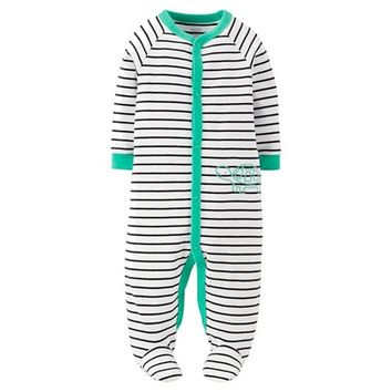 Just One You™Made by Carter's® Newborn Boys' Turtle Striped Sleep N' Play - White/Mint