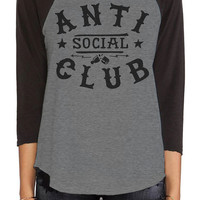 The Anti Social Raglan in Gray & Black