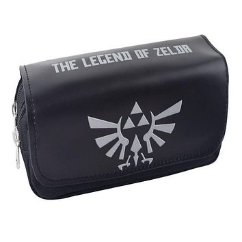Zelda One Piece Sailor Moon Dragon Ball Totoro FAIRY TAIL Cosplay Game Travel Wallet Case Pen Pencil Pouch Purse Bag
