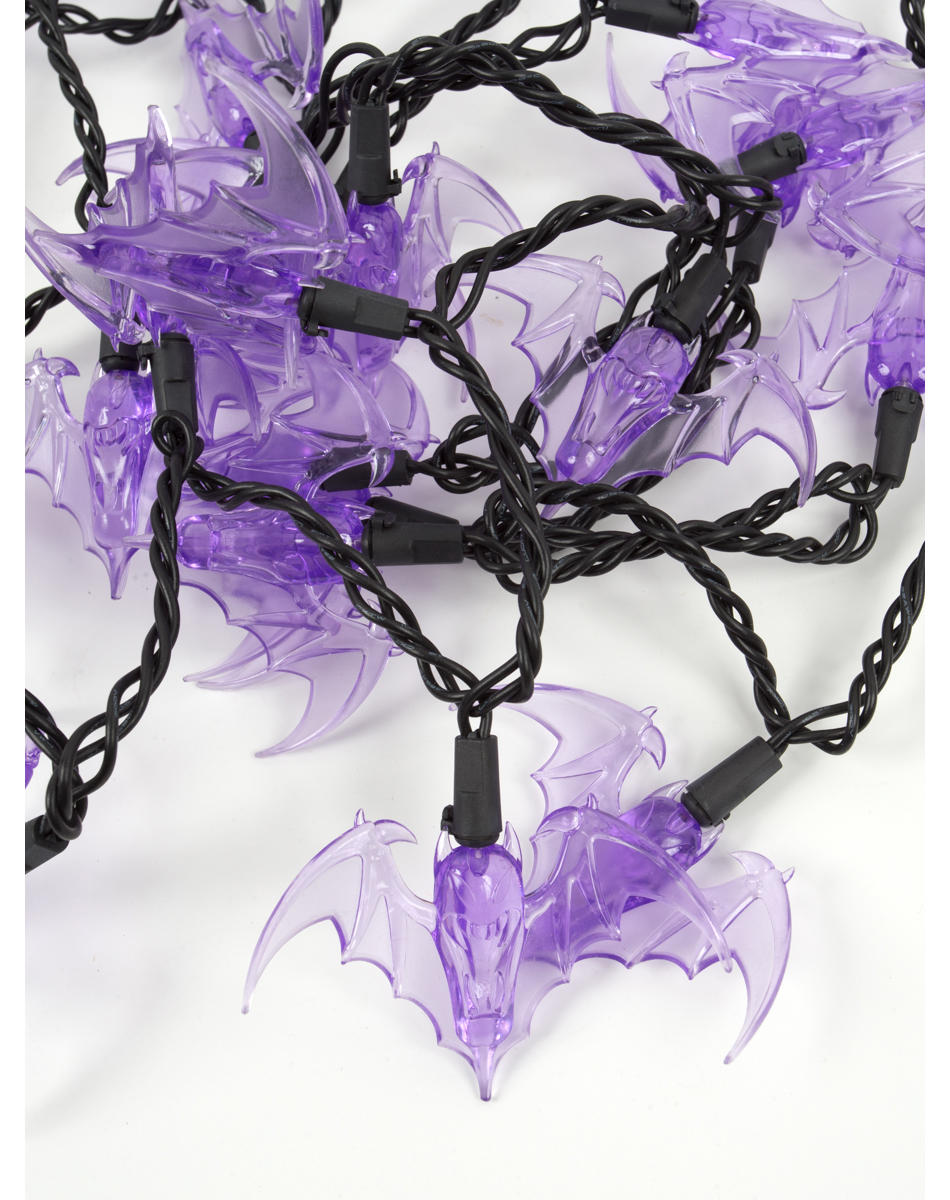 Halloween Purple Led String Lights : Purple LED Bat String Lights Spirit from Spirit Halloween