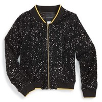 Girl's Marciano Sequin Jacket,