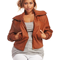 Faux Leather Bomber Jacket | Wet Seal+