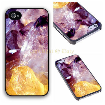 Quartz Crystal Lavender Pastel Goth case for iPhone 4 4s 5 5s 5c 6 6s plus