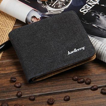 Classic Brown Leather Wallet by Baellerry